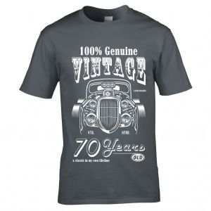 Premium 70 Year Old Legend In My Own Time Genuine Vintage Hot Rod Car 70th Birthday Gift T-shirt Top